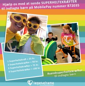 Send superheltekræfter til indlagte børn